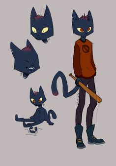mae is a character after my own heart by leah Character Concept, Character Art, Concept Art, Animation Character, Art Sketches, Art Drawings, Art Du Monde, Chibi, Night In The Wood