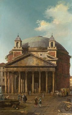 Pantheon (by Canaletto), Roma