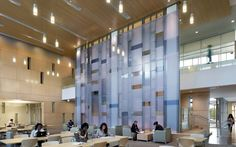 Image 4 of 12 from gallery of Founders Hall / Overland Partners. Photograph by Jeffrey Totaro City Hall Architecture, Interior Architecture, Interior Design, University Of North Texas, Glass Partition Wall, French Pattern, Cafe Design, Commercial Design
