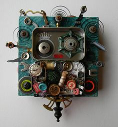 Recycled Art Assemblage  The Salvaged Medusa  by redhardwick, $95.00