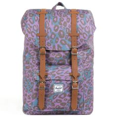 Herschel Little America Mid-Volume Backpack - Purple Leopard £64 Add some vibrant animal prnt with this #leopard #print backpack! #mybag #style #fashion http://www.mybag.com/bags-clothing/women/accessories/herschel-little-america-mid-volume-backpack-purple-leopard/10802799.html?affil=thgsocial