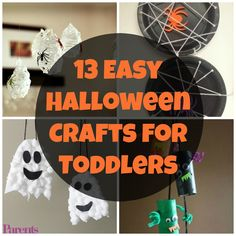 Even tiny toddler hands can make these adorable DIY Halloween decorations—with supervision from Mom or Dad, of course.