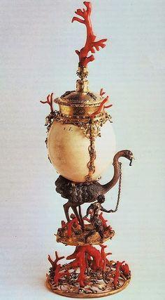 Ostrich Egg Cup, Clement Kicklinger, Augsburg, 1570's