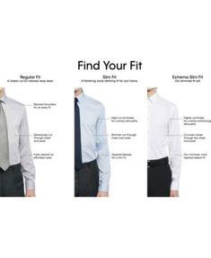 4bfbd39b Calvin Klein Men's Steel Slim-Fit Non-Iron Performance Stretch Point Collar  White Dress Shirt - White 15 32/33