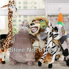 Wholesale free shipping Madagascar 3 plush toys soft toys 6pcs a lot size 25cm gifts  US $32.00