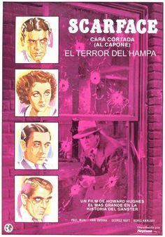 DVD CINE 1212 - Scarface: el terror del hampa (1932) EEUU. Dir: Howard Hawks e Richard Rosson. Drama. Thriller. Mafia. Sinopse: Tony Camonte traballa para Johnny Lovo, o gánster máis poderoso do South End de Chicago. Ambicioso e cruel, Camonte, alcumado Cara cortada por unha cicatriz no seu rostro, elimina aos poucos aos rivais do seu xefe ata que, coa axuda do seu amigo Gino Rinaldo, arrebátalle o poder tamén a el e convértese no amo da cidade.