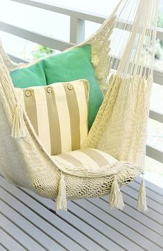 Indoor Hammock Chair #anthropologie #PinToWin