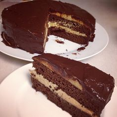 Making this grain free / paleo cake RIGHT NOW but with cream cheese frosting under the dark chocolate ganache, for my husband's birthday. Yummmmmm.