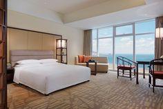 Ocean View King Room #hyattregencyqingdao #seaviewroom #guestroom