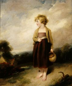 A Child going to fetch Water by Richard Westall 1796 The bare feet are a clue to the economic status of the child.