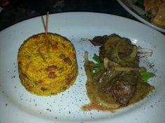 Filete de Lomo en Salsa de Zetas y Arroz Mamposteao @ La Fondita de Leo, Bayamón