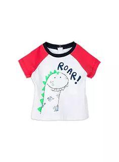 Baby Boys + Accessories Roar Tee Milk tee