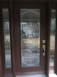 Image result for front doors with sidelites and 3/4 glass