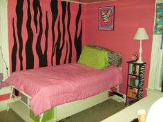 Pink Zebra Print Bedroom with Themed Accessories - HOME SWEET HOME