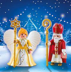 Playmobil Navidad - San Nicolás y ángel de Navidad, figuras (5592): Amazon.es: Juguetes y juegos
