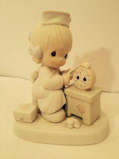 Vintage Precious Moments Nurse Figurine  Time by TheBurlapFlea