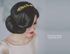 Vintage hair style www.weddingsonline.in