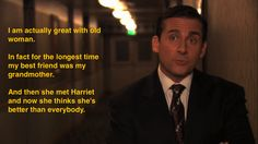 old people + michael scott Funny Stuff, Hilarious, Michael Scott The Office, Office Quotes, Battlestar Galactica, Modern Family, Best Shows Ever, I Smile