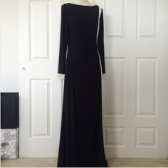 ☀️SALE☀️. Ralph Lauren Color Block Long Gown NWT: there are (2) small marks on the upper part of the white-I did not seen when I got bcuz they are small & there is try-on discoloration on the bottom white of the hem-can easily be cleaned-size FITS UP TO size 10 SALE PRICE FIRM Ralph Lauren Dresses Long Sleeve
