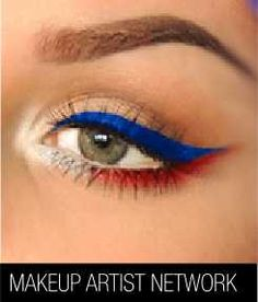 Look festive and fun with our 4th of July Inspired Eye look!