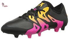 adidas Messi 16.3 AG, Chaussures de Football Homme, Gris (Dark Grey/Silver Met./Solar Green), 44 2/3 EU