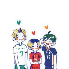 Haikyuu Wallpaper, Cute Anime Wallpaper, Cute Cartoon Wallpapers, Haikyuu Fanart, Haikyuu Anime, Kurotsuki, Volleyball Anime, Kenma Kozume, Yamaguchi