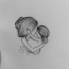 "166 Likes, 18 Comments - Ana  Drechsler (@anadrechsler) on Instagram: ""Desenho mãe e filha criado para cliente ♡ #amordemae #maeefilha #drawing2me #drawing #art…"""