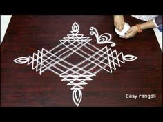 sankranthi dhanurmasam muggulu designs    pongal kolam designs   easy rangoli designs    rangoli art - YouTube