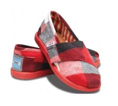 Tiny TOMS Infant Wool Plaid Classics  #MountainHighOutfitters #Toms