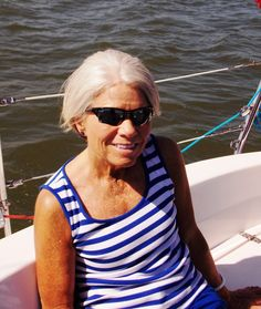 """SAILING FIT – Brenda Mitchell is a fitness trainer in Williamsburg who joined her friends for an afternoon sail along the York River. I asked her what the greatest danger is to people of a certain age. """"Falling. If you trip and fall you can break your hip or worse. It's so easy to happen because as we age our eyesight gets worse and we lose our depth of field vision. We just have to be careful and hang on where we can, and move a little more slowly. Especially when climbing steps."""""""