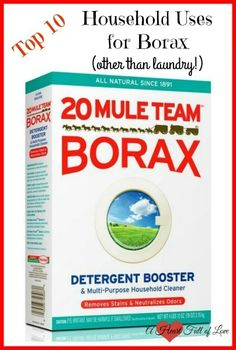 Borax is good for so much more than just laundry. Click here to learn 10 great uses for Borax around the home.