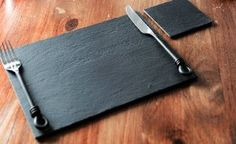 Set of 4 100% Natural High Quality Slate Placemats & 4 Coasters (8 Piece Set): Amazon.co.uk: Kitchen & Home