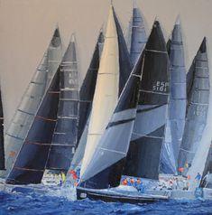 """""""S/T"""", serie regatas – Belén Eizaguirre Alvear Portfolio, Sailing Ships, Boat, Tanks, Oil On Canvas, Canvases, Boats, Dinghy, Sailboat"""