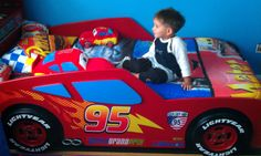 """I was Just talking about something like this! """"Cars Pixar Bed"""" DIY"""