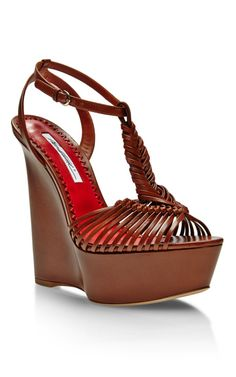 2408cbd55490 Love the funky Akemi Braided-Leather Platform Wedges by Brian Atwood - Moda  Operandi Only
