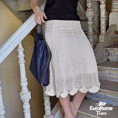 Saia de Crochê Pipoca por Marcelo Nunes com EuroRoma