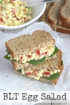 BLT Egg Salad (1) From: Two Healthy Kitchens, please visit