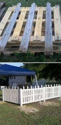 Old Pallet Fence. this is going around my garden! Old Pallet Fence. this is going around my garden! Old Pallets, Pallets Garden, Recycled Pallets, Wooden Pallets, Fence Garden, Farm Fencing, Gravel Garden, Fence Art, Pool Fence