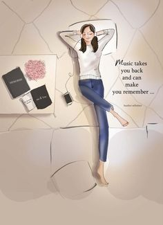Music Takes YOU Back Heather Stillufsen Motivational Girly Quotes, Cute Quotes, Bright Quotes, Positive Quotes For Women, Tuesday Quotes, Girly Drawings, Motivational Quotes, Inspirational Quotes, New Print