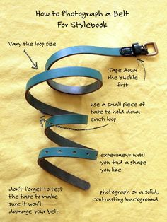 How to photograph a belt for your Stylebook closet.