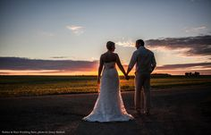 Wedding sunset in Minnesota