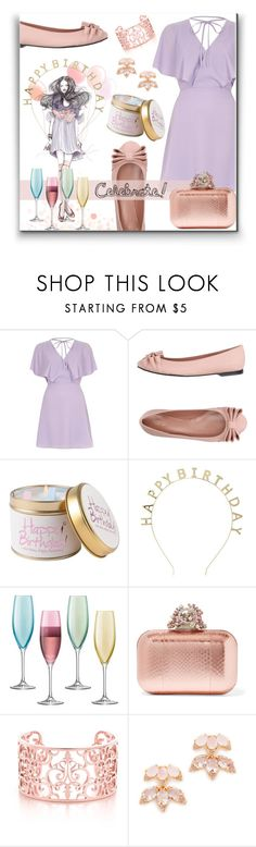 """Happy Birthday!"" by maheanani ❤ liked on Polyvore featuring River Island, RED Valentino, Lily-Flame, Forever 21, LSA International, Jimmy Choo and Kate Spade"