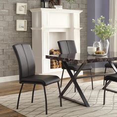 Danbury Metal Contoured Upholstered Dining Chair (Set of 2) - Overstock™ Shopping - Great Deals on Dining Chairs