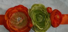 Lime Green Orange shoe clips Bridal Wedding  Shoe by ShoeClipsOnly, $22.00