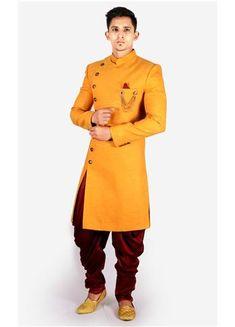 Designer wedding wear indo western for Mens Mens Indian Wear, Mens Ethnic Wear, Indian Groom Wear, Indian Men Fashion, Mens Fashion, Wedding Dresses Men Indian, Wedding Dress Men, Wedding Suits, Wedding Outfits For Men
