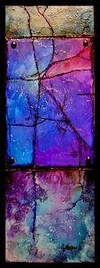 "CAROL NELSON FINE ART BLOG: Geologic Abstract Painting, ""Lavender Shale"" © Carol Nelson Fine Art"
