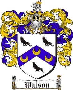 Watson Coat of arms / Family Crest $4.99  from www.4crests.com  #coatofarms #familycrest #familycrests #coatsofarms #heraldry
