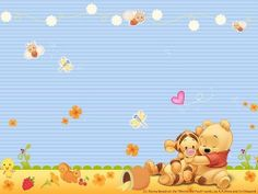 Winnie the Pooh-would make adorable baby room theme :) Winnie The Pooh Christmas, Cute Winnie The Pooh, Winnie The Pooh Birthday, Muppet Babies, Winie The Pooh, Pooh Bebe, Baby Book Pages, Winnie The Pooh Pictures, Baby Room Themes