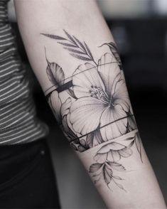 Love Tattoos, Black Tattoos, Body Art Tattoos, New Tattoos, Tattoos For Women, Simple Arm Tattoos, Tatoos, Wrap Tattoo, Cuff Tattoo
