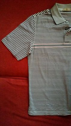 Men's Raffi Linea Uomo Black and White stripe Polo Shirt Medium in Clothing, Shoes & Accessories, Men's Clothing, Casual Shirts | eBay